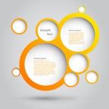 Diseño de las burbujas. Imágenes de archivo libres de regalías