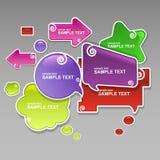 Diseño de las burbujas del discurso Foto de archivo libre de regalías