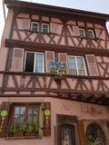 Diseño de las casas de Colmar foto de archivo