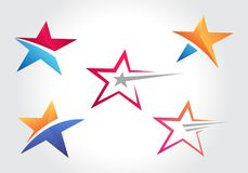 Diseño de las colecciones del icono de la forma de la estrella ilustración del vector