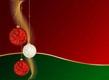Diseño de las decoraciones de la Navidad stock de ilustración