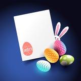 Diseño de las decoraciones y de la disposición de Pascua Imagen de archivo libre de regalías