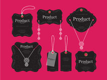 Diseño de las etiquetas de Jewerly ilustración del vector