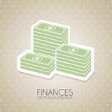 Diseño de las finanzas Fotos de archivo libres de regalías