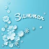 Diseño de las flores del verano Fotos de archivo libres de regalías