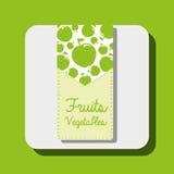 Diseño de las frutas y verdura ilustración del vector