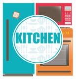Diseño de las fuentes de la cocina Imágenes de archivo libres de regalías