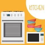Diseño de las fuentes de la cocina Imagen de archivo