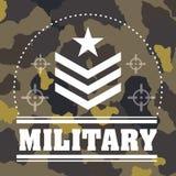 Diseño de las fuerzas armadas de arma stock de ilustración
