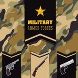 Diseño de las fuerzas armadas de arma ilustración del vector
