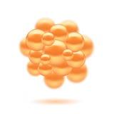 Diseño de las moléculas Foto de archivo libre de regalías