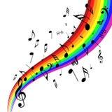 diseño de las notas musicales ilustración del vector