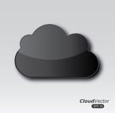 Diseño de las nubes stock de ilustración