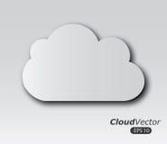 Diseño de las nubes ilustración del vector
