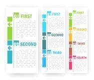 Diseño de las opciones del número Imagen de archivo