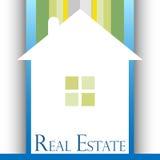 Diseño de las propiedades inmobiliarias stock de ilustración