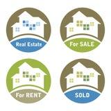 Diseño de las propiedades inmobiliarias ilustración del vector