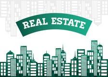 Diseño de las propiedades inmobiliarias Imágenes de archivo libres de regalías