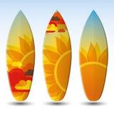 Diseño de las tablas hawaianas Imagen de archivo