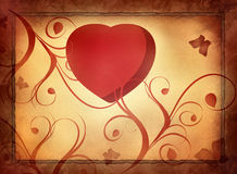 Diseño de las tarjetas del día de San Valentín Fotografía de archivo