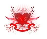Diseño de las tarjetas del día de San Valentín Foto de archivo