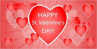Diseño de las tarjetas del día de San Valentín Fotos de archivo libres de regalías