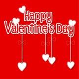 Diseño de las tarjetas del día de San Valentín de la forma feliz del día y del corazón Fotografía de archivo