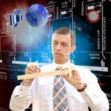 Diseño de las tecnologías espaciales de la ingeniería Imagen de archivo libre de regalías