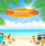 Diseño de las vacaciones de verano Imagenes de archivo