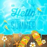 Diseño de las vacaciones de verano stock de ilustración
