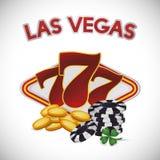 Diseño de Las Vegas stock de ilustración