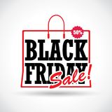 Diseño de las ventas de Black Friday Vector libre illustration