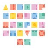 Diseño de letra del alfabeto de la fuente Imágenes de archivo libres de regalías