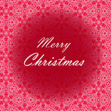 Diseño de letras de la Feliz Navidad Tarjeta del vector Fondo del día de fiesta Imágenes de archivo libres de regalías