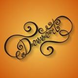 Diseño de letras de la mano del postre del vector Imagen de archivo libre de regalías