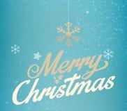 Diseño de letras del oro de la Feliz Navidad que brilla Fotos de archivo