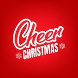 Diseño de letras del texto de la alegría de la Navidad Tarjeta con cita y los copos de nieve de la caligrafía de la alegría de la Fotos de archivo libres de regalías