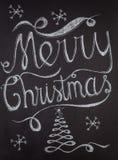 Diseño de letras dibujado mano de la Feliz Navidad Fotografía de archivo