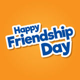 Diseño de letras dibujado mano feliz del vector del día de la amistad imagenes de archivo