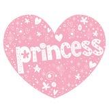 Diseño de letras en forma de corazón de la princesa Fotografía de archivo libre de regalías