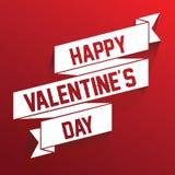 Diseño de letras feliz del vector de la cinta de día de San Valentín - El fichero del vector ilustración del vector