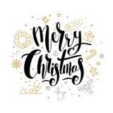 Diseño de letras de la Feliz Navidad ilustración del vector