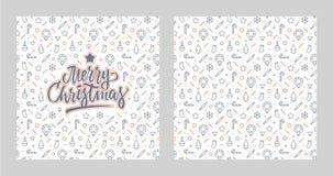 Diseño de letras de la Feliz Navidad que brilla stock de ilustración