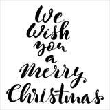 Diseño de letras de la Navidad Imágenes de archivo libres de regalías