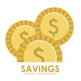Diseño de los ahorros stock de ilustración