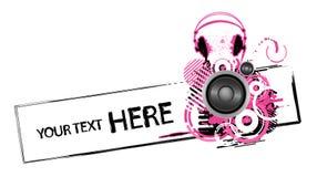 Diseño de los auriculares de Grunge Imagen de archivo libre de regalías