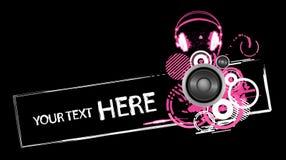Diseño de los auriculares de Grunge Imagenes de archivo