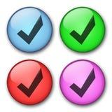 Diseño de los botones del Web Imágenes de archivo libres de regalías