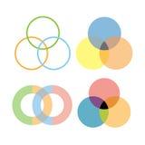 Diseño de los círculos de la intersección Fotos de archivo