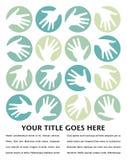 Diseño de los círculos de la mano. Imagen de archivo